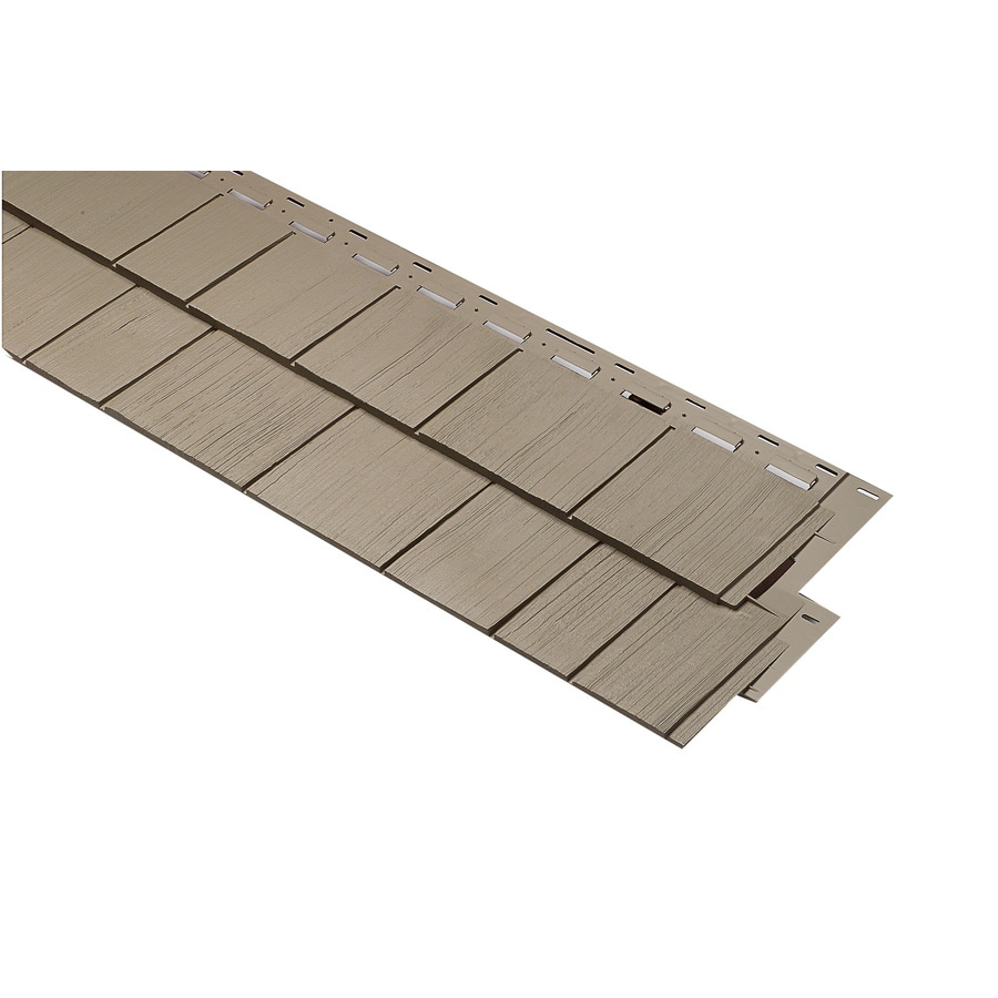 Clay Vinyl Siding Panel 15-in x 54-in