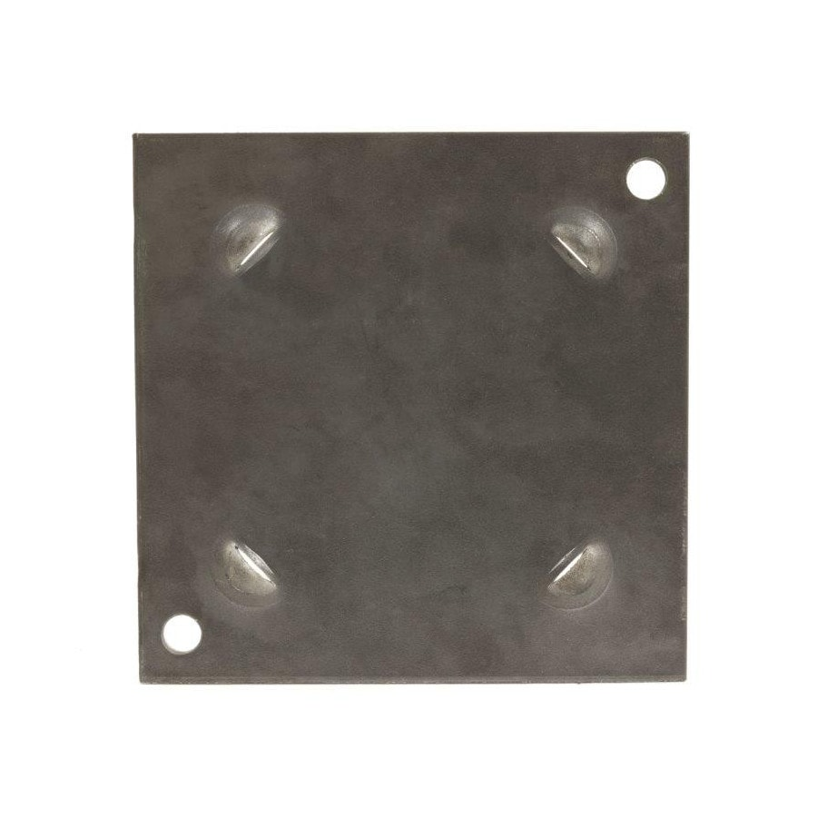 Springfield Plate 5-in x 5-in Unfinished Steel Column Cap and Base Kit