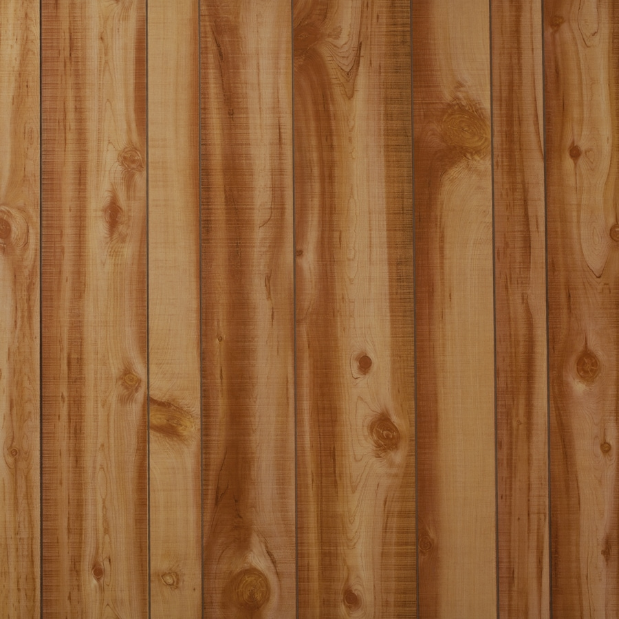 Georgia-Pacific 48-in x 8-ft Recessed Cedar MDF Wall Panel