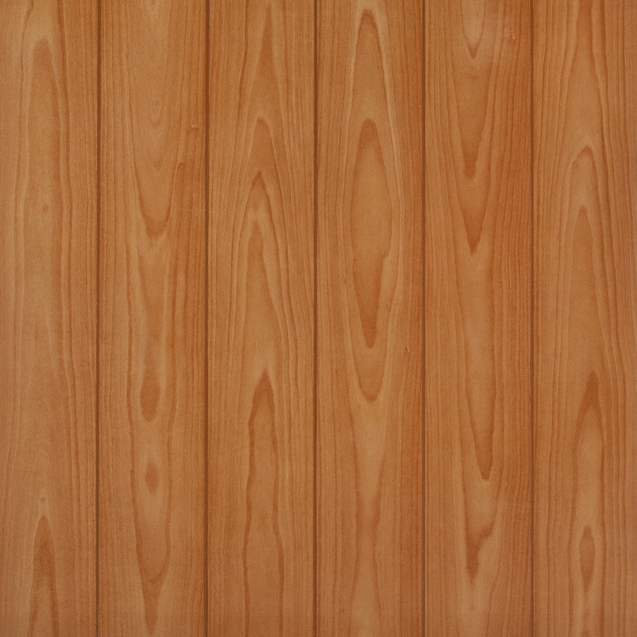 Lowes Wood Interior Accent Wall Panel: 7.98-ft Recessed Brownish Red Hardboard Wall Panel At