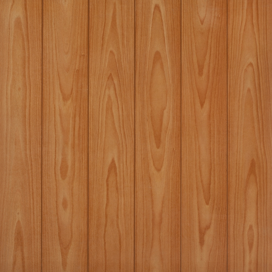 Shop 48 In X 8 Ft Embossed Cinnamon Beech Mdf Wall Panel