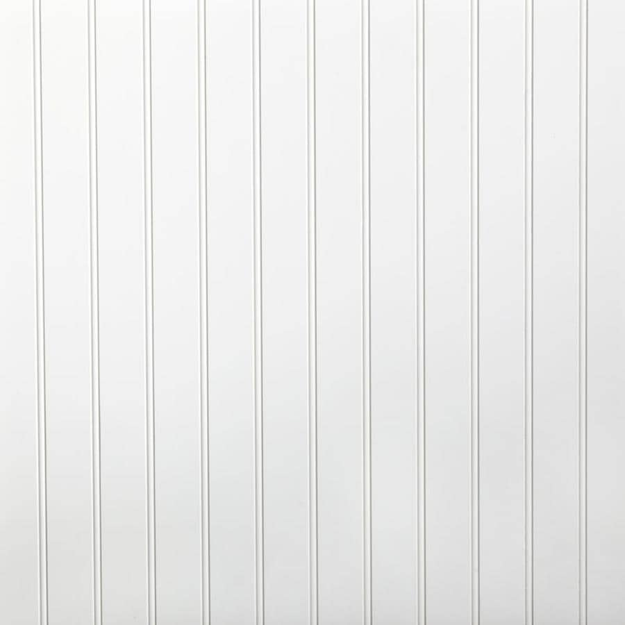 48 In X 2 67 Ft Beaded White Primed Mdf Wainscoting Wall
