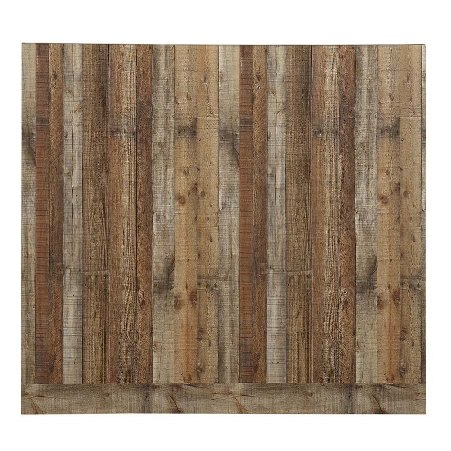 Reclaimed 48-in x 8-ft Smooth Weathered Barnboard MDF Wall Panel