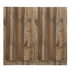 Shop wall panels planks at lowescom for Kitchen cabinets lowes with outdoor metal star wall art