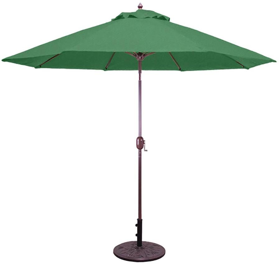 Galtech Forest Green Market Patio Umbrella (Common: 9-ft W x 9-ft L; Actual: 9-ft W x 9-ft L)