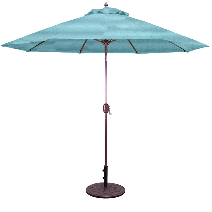 Galtech Caribbean Blue Market Patio Umbrella (Common: 9-ft W x 9-ft L; Actual: 9-ft W x 9-ft L)