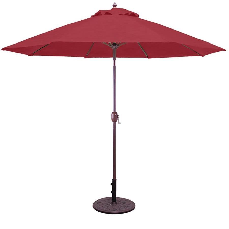 Galtech Cardinal Red Market Patio Umbrella (Common: 9-ft W x 9-ft L; Actual: 9-ft W x 9-ft L)