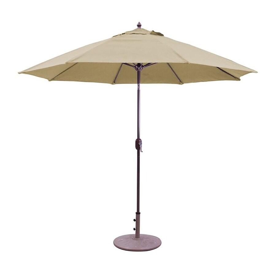 Galtech Brass Market Patio Umbrella (Common: 9-ft W x 9-ft L; Actual: 9-ft W x 9-ft L)