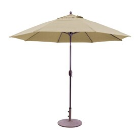 Galtech Brass Market Patio Umbrella (Common: 9 Ft W X 9 Ft