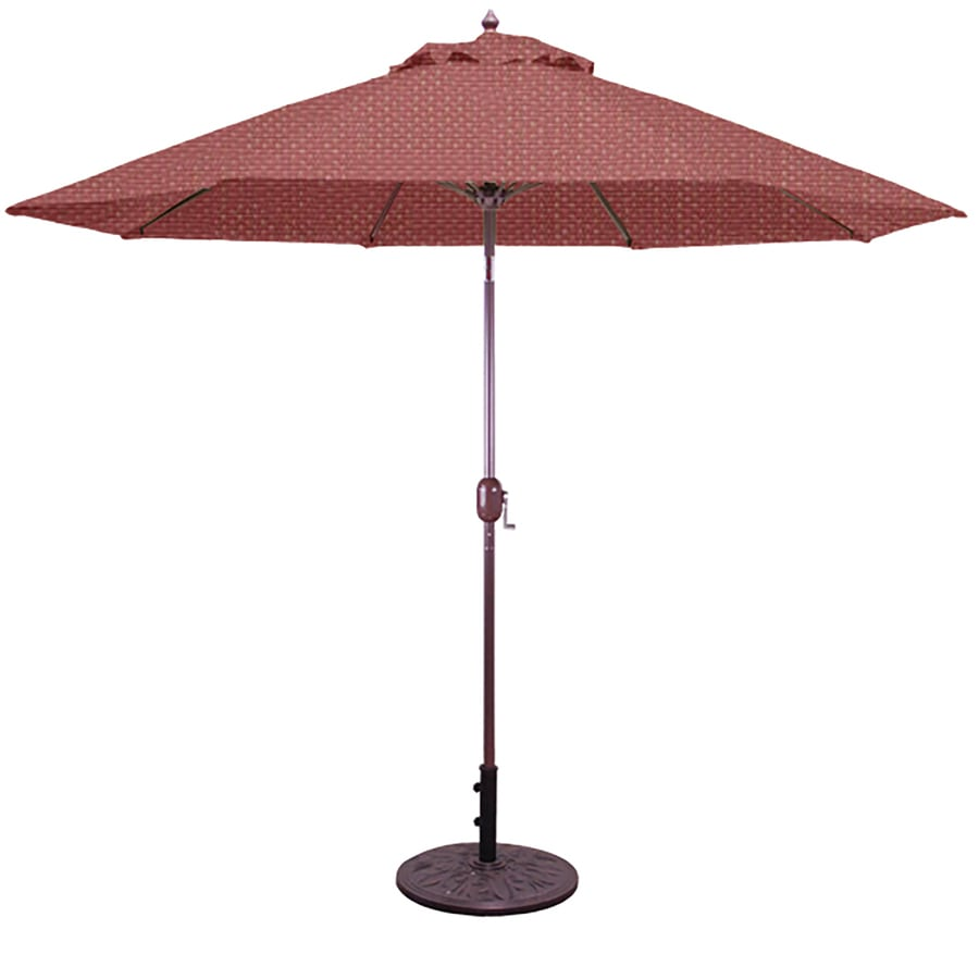 shop galtech rust market patio umbrella common 9 ft w x