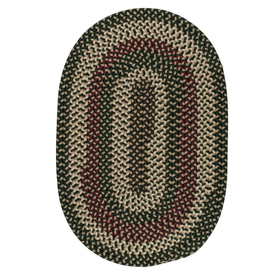 Colonial Mills Brook Farm 3 X 5 Winter Green Oval Indoor Outdoor Border Farmhouse Cottage Handcrafted Area Rug In The Rugs Department At Lowes Com