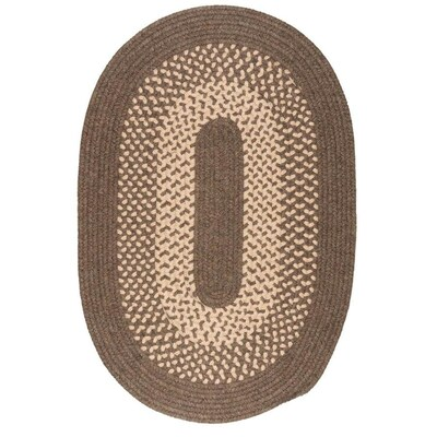 Colonial Mills Madison Braided Rug Roasted Brown.Colonial Mills Madison Roasted Brown Round Indoor Outdoor