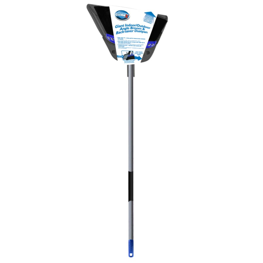 CLEANX 16-in Poly Fiber Upright Broom