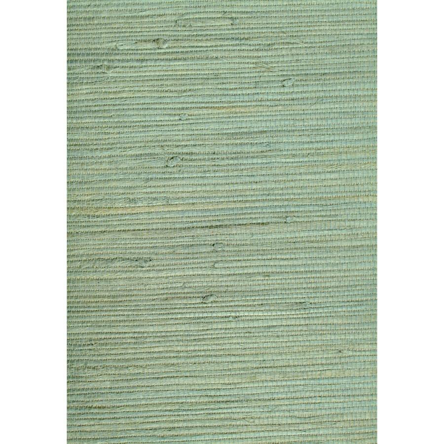 Shop Allen + Roth Green Grasscloth Unpasted Textured