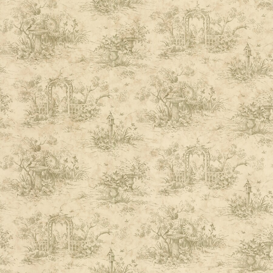 Shop waverly harlow toile wallpaper at for Waverly wallpaper