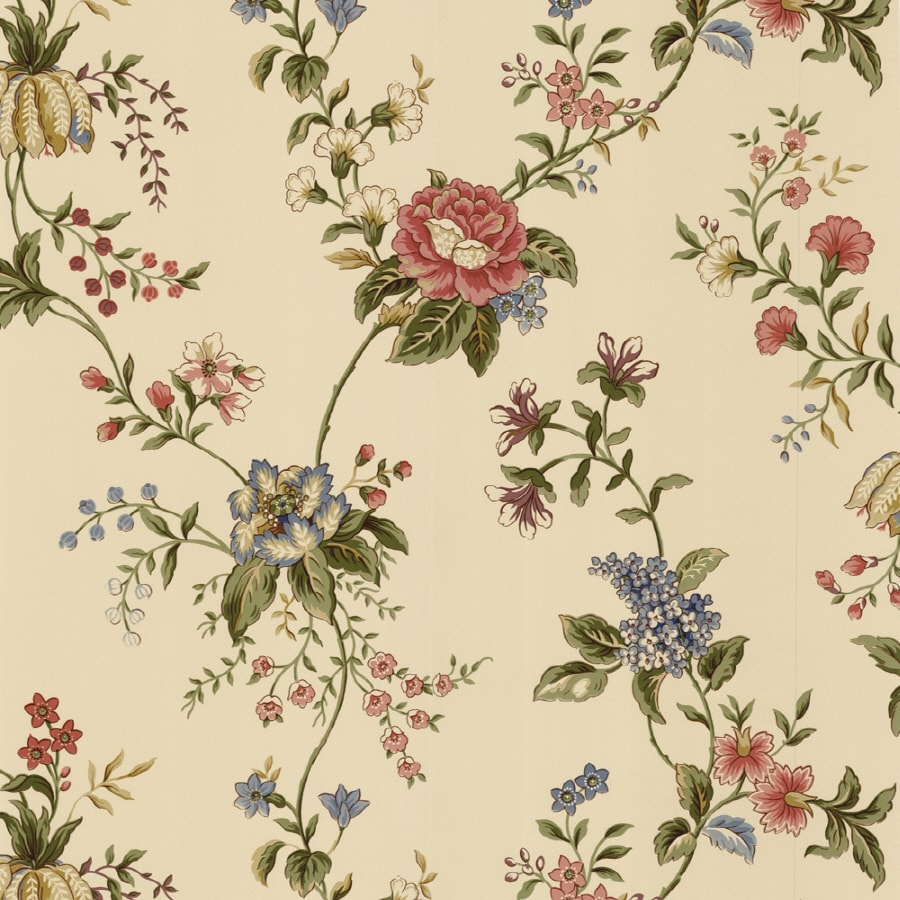 Waverly Beige Strippable Paper Prepasted Wallpaper