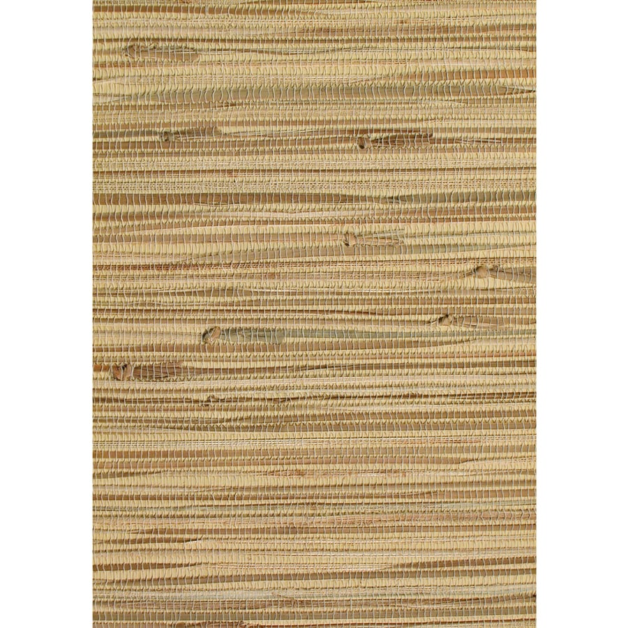 Allen Roth Brown Grcloth Unpasted Textured Wallpaper