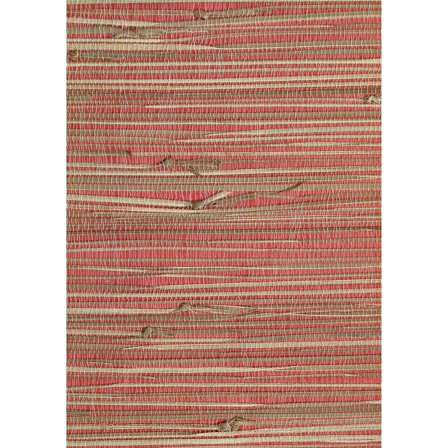 Red Grasscloth Wallpaper