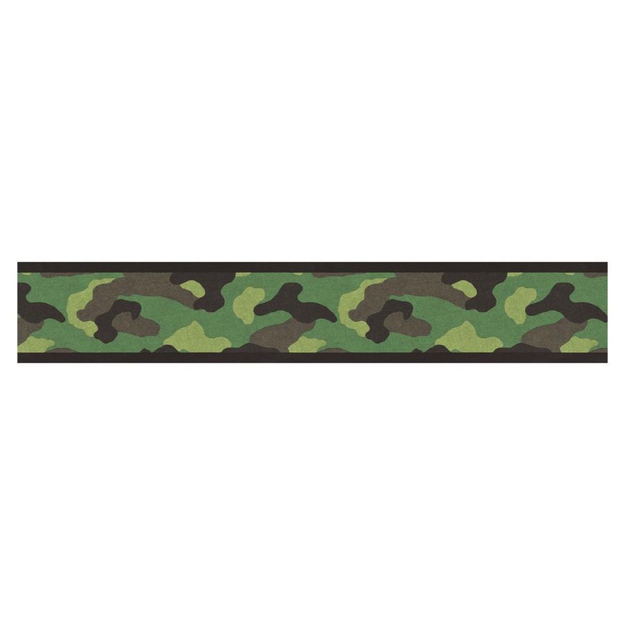 Shop Village Camouflage Wallpaper Border At Lowes Com