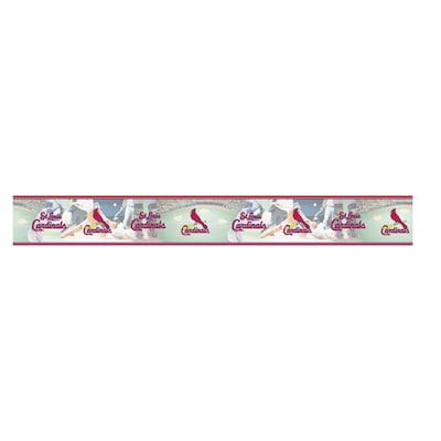 Village St Louis Cardinals Wallpaper Border At Lowes Com