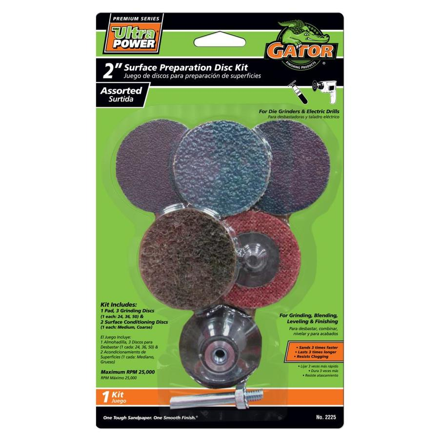 Gator 6-Pack Zirconia 2-in Multi-Grade Pack-Grit Grinding Wheel