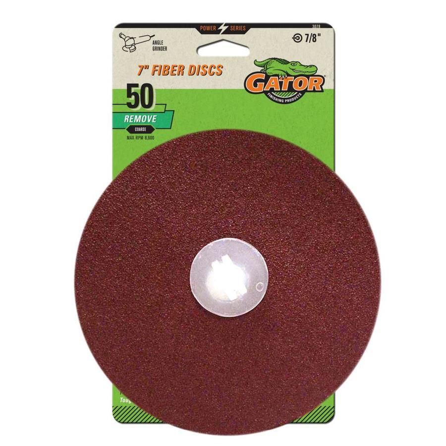 Gator Fiber Discs 3-Pack Aluminum Oxide 7-in 50-Grit Fiber Disc