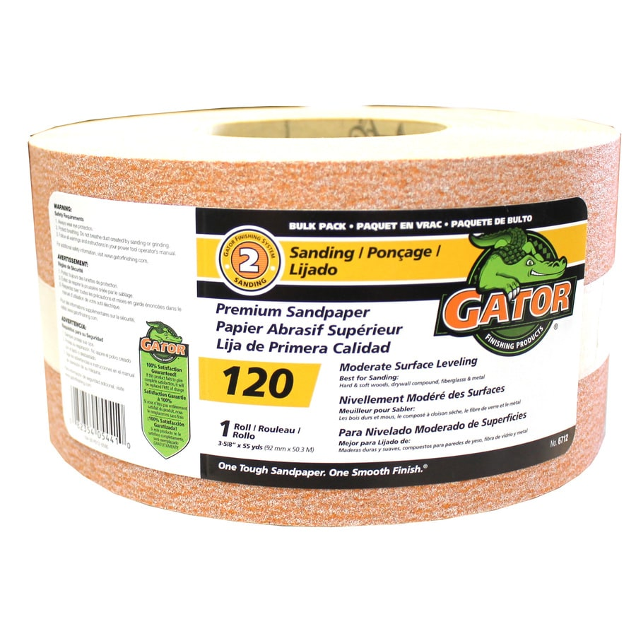 Gator 3.625-in W x 1980-in L 120-Grit Commercial Sanding Roll Sandpaper