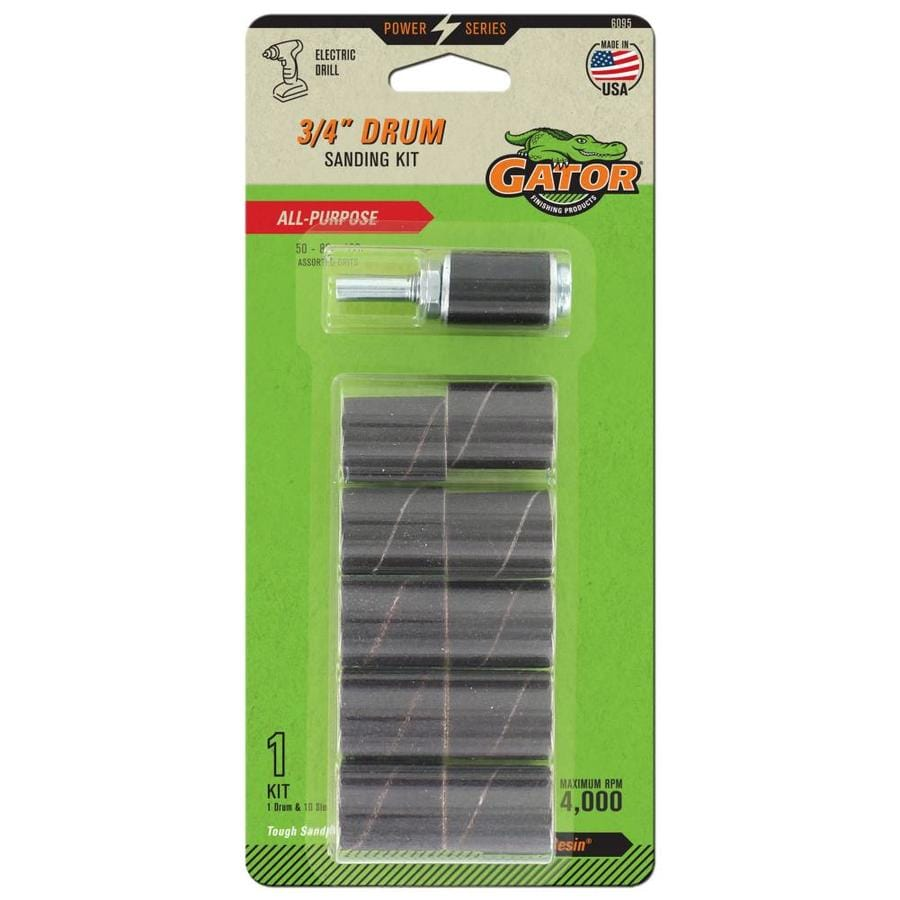 Gator 10-Pack 1-in W x 0.75-in L Multi-Grade Pack Commercial Sanding Drum Sandpaper