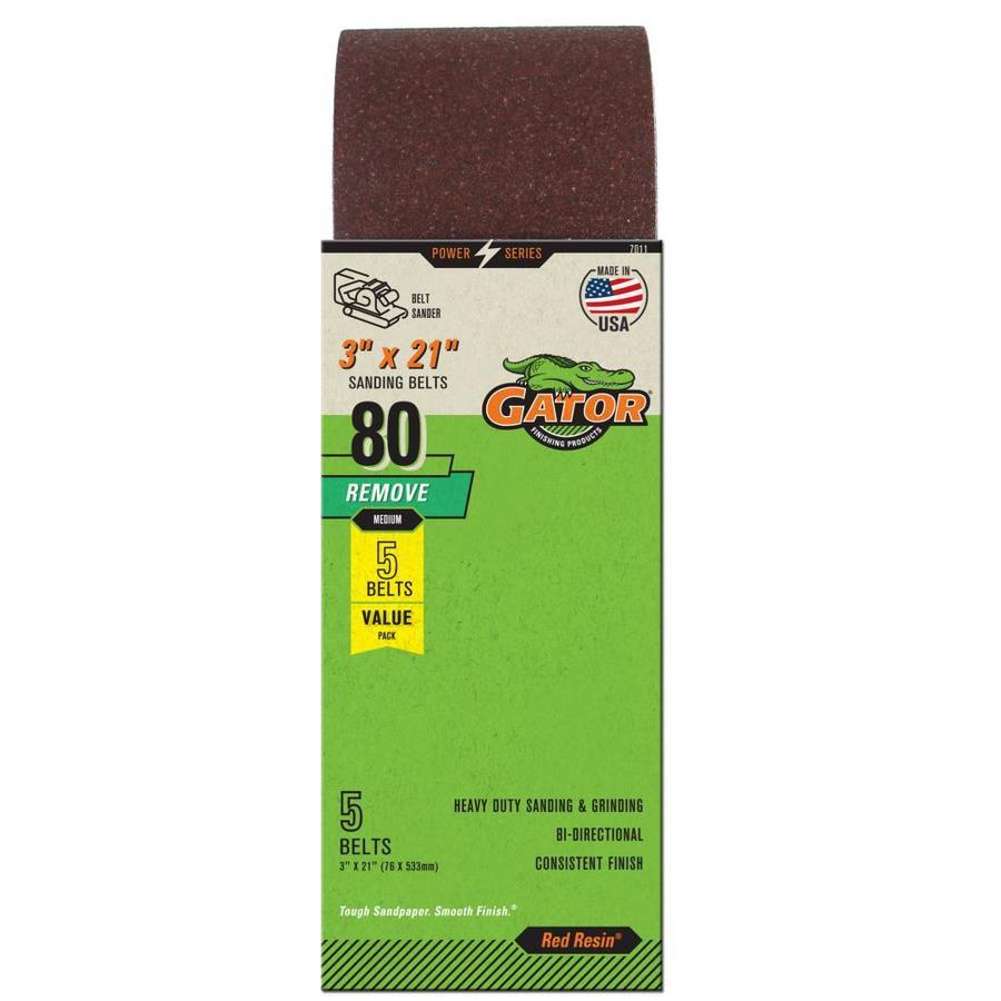 3 X 18 Inch 320 Grit Aluminum Oxide Multipurpose Sanding Belts 8 Pack Majsterkowanie Narzędzia