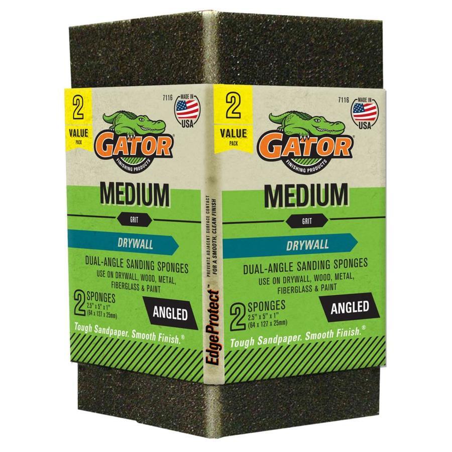 Gator 2-Pack 2.93-in x 1-in 80-Grit Commercial Sanding Sponge