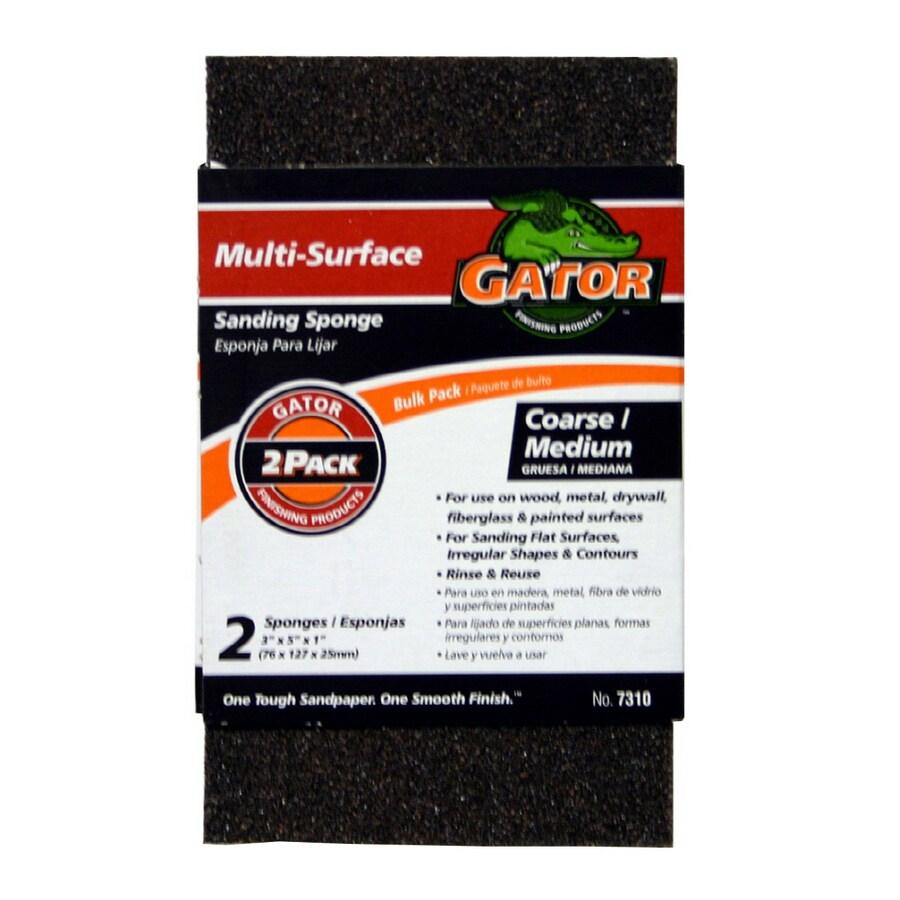 """Gator 2-Pack Value 3"""" x 5"""" Sponge Coarse/Medium"""