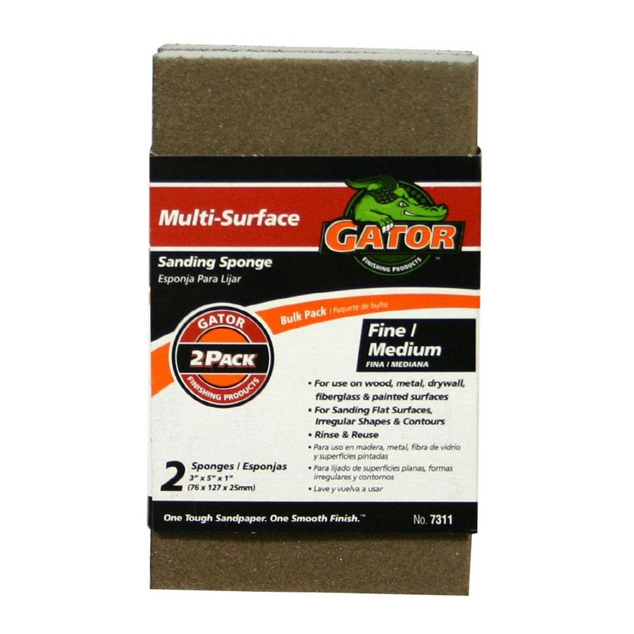 "Gator 2-Pack Value 3"" x 5"" Sponge Fine/Medium"