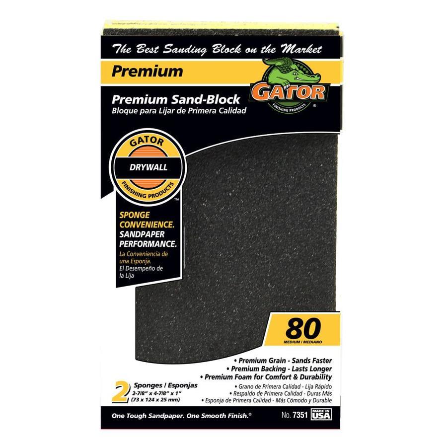 Gator 2-Pack 1-in x 3-in 80-Grit Commercial Sanding Sponge
