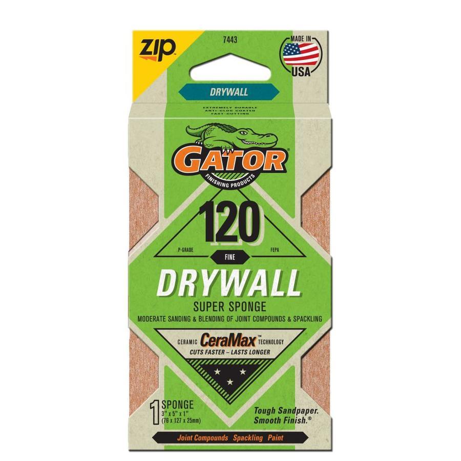 Gator 5-in x 3-in 120-Grit Commercial Sanding Sponge