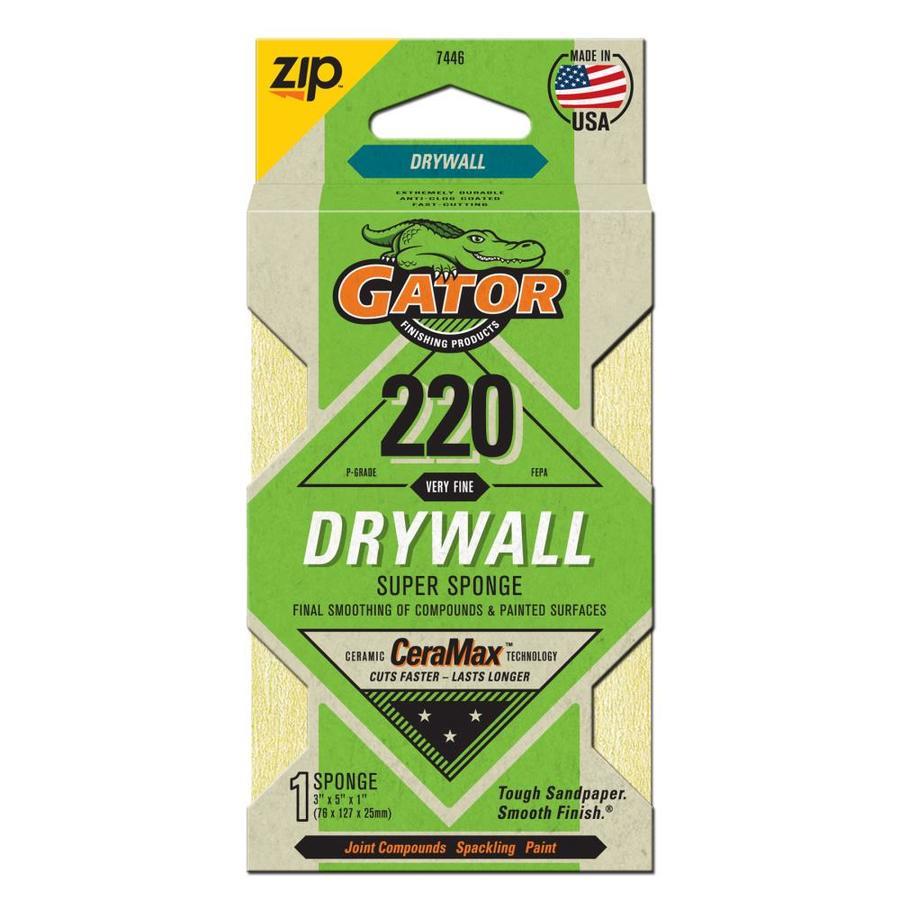 Gator 5-in x 3-in 220-Grit Commercial Sanding Sponge