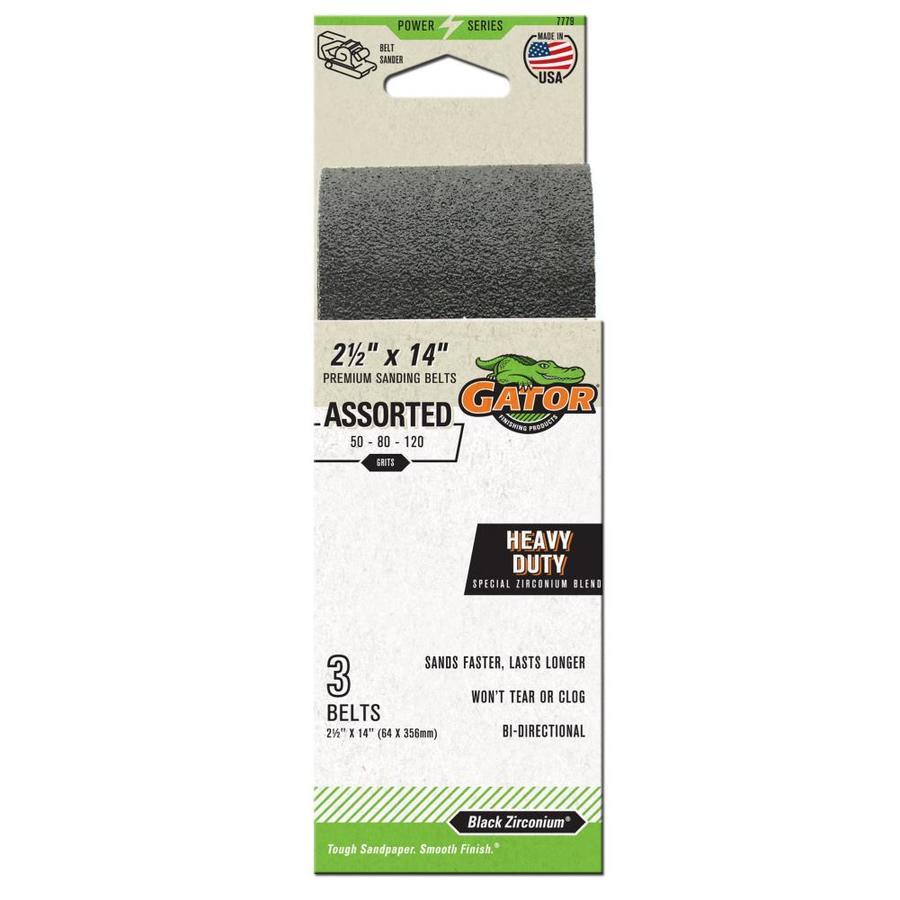 Gator 3-Pack 2.5-in W x 14-in L Multi-Grade Pack Premium Sanding Belts Sandpaper