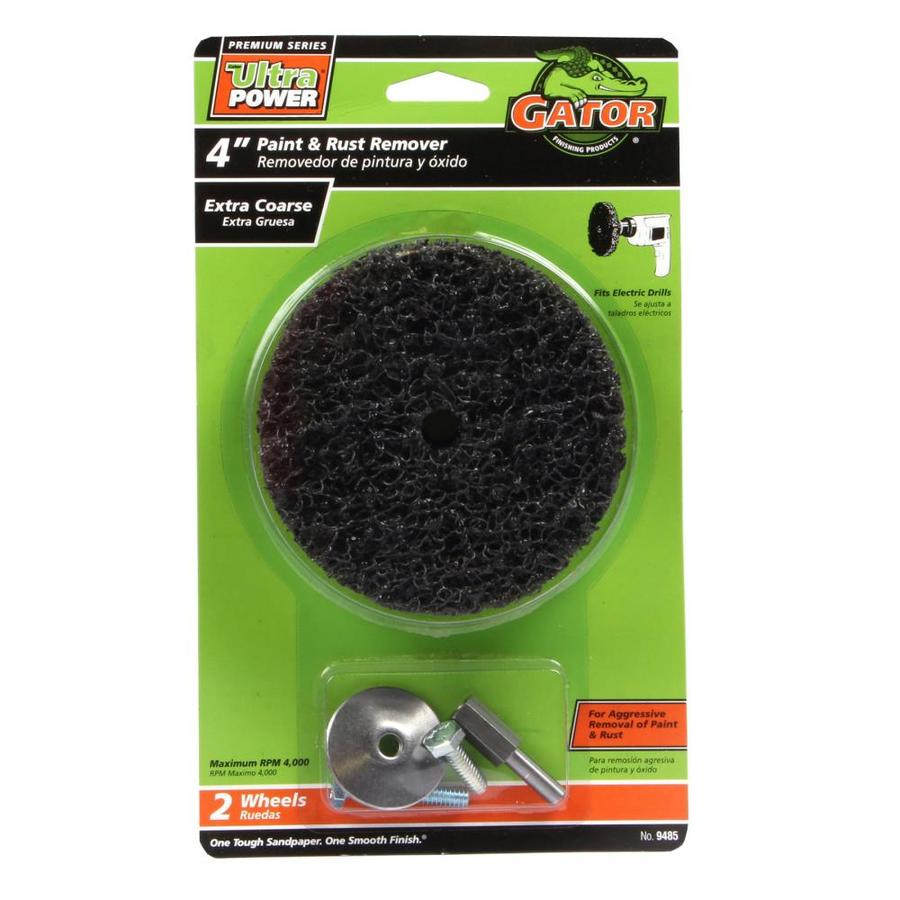 Gator 2-Pack 4-in W x 4-in L 40-Grit Commercial Paint and Rust Remover Wheel Sandpaper