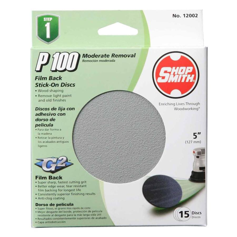 Shopsmith 15-Pack 5-in W x 5-in L 100-Grit Commercial Sanding Disc Sandpaper