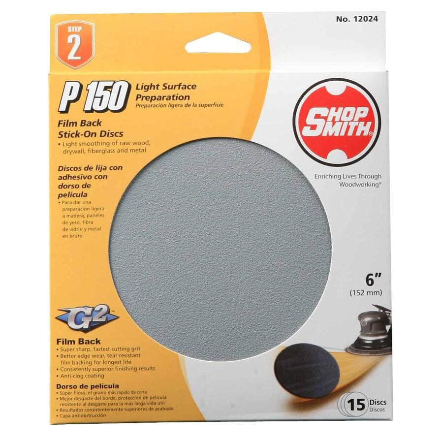 Shopsmith 15-Pack 6-in W x 6-in L 150-Grit Commercial Sanding Disc Sandpaper