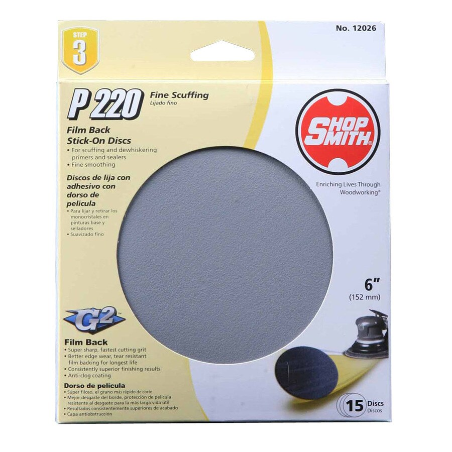 Shopsmith 15 Pack 6-in Diameter 220-Grit Commercial Sanding Disc