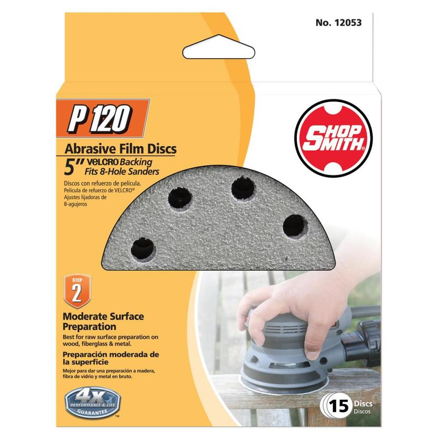 Shopsmith 15-Pack 5-in W x 5-in L 120-Grit Commercial Sanding Disc Sandpaper