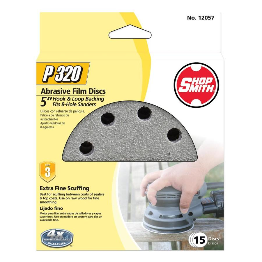 Shopsmith 15-Pack 5-in W x 5-in L 320-Grit Commercial Sanding Disc Sandpaper