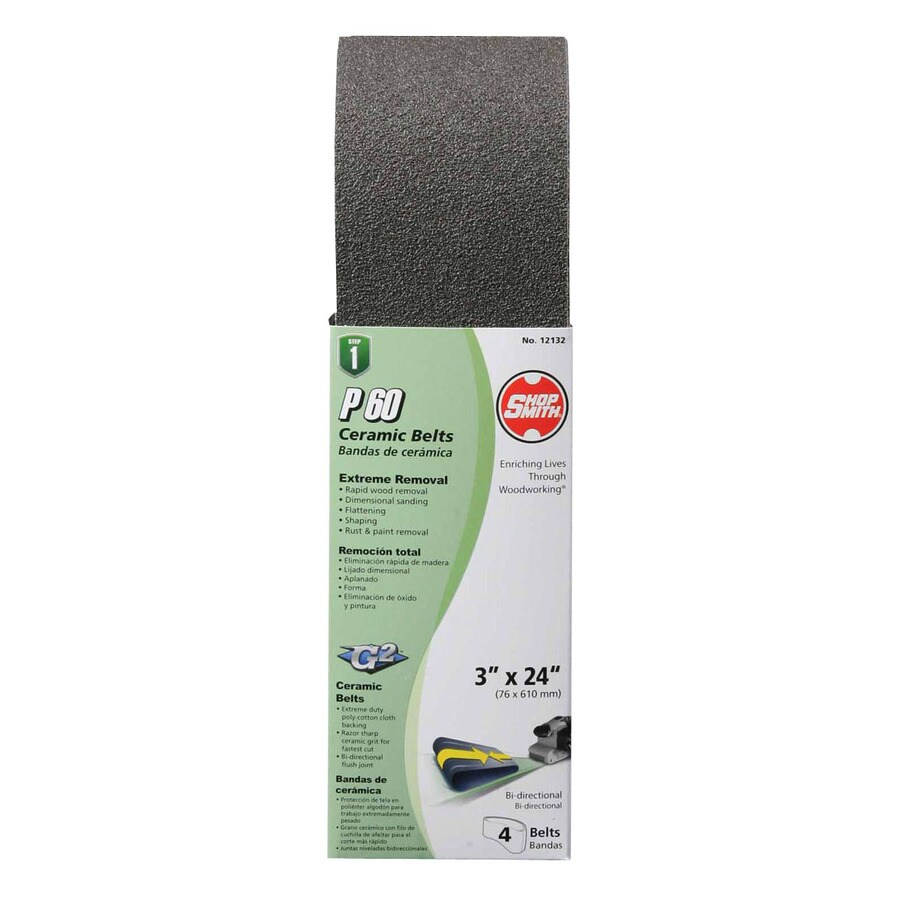 Shopsmith 4-Pack 3-in W x 24-in L 60-Grit Commercial Sanding Belt Sandpaper