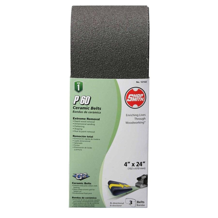 Shopsmith 3-Pack 4-in W x 24-in L 60-Grit Commercial Sanding Belt Sandpaper