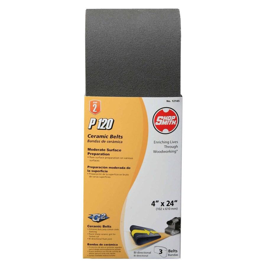 Shopsmith 3-Pack 4-in W x 24-in L 120-Grit Commercial Sanding Belt Sandpaper