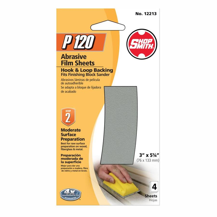 Shopsmith 4-Pack 3-in W x 5.25-in L 120-Grit Commercial Sanding Sheets