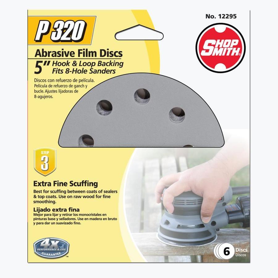Shopsmith 6-Pack 5-in W x 5-in L 320-Grit Premium Sanding Discs Sandpaper