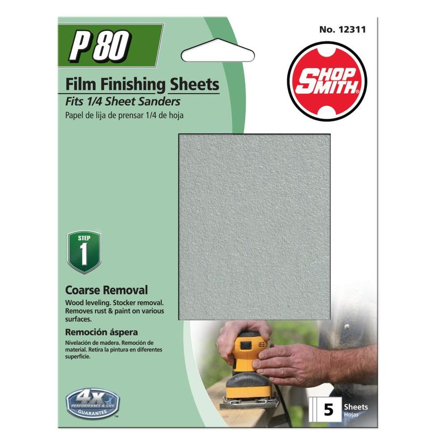 Shopsmith 5-Pack 4.5-in W x 5.5-in L 80-Grit Commercial Clamp-On Sanding Sheets