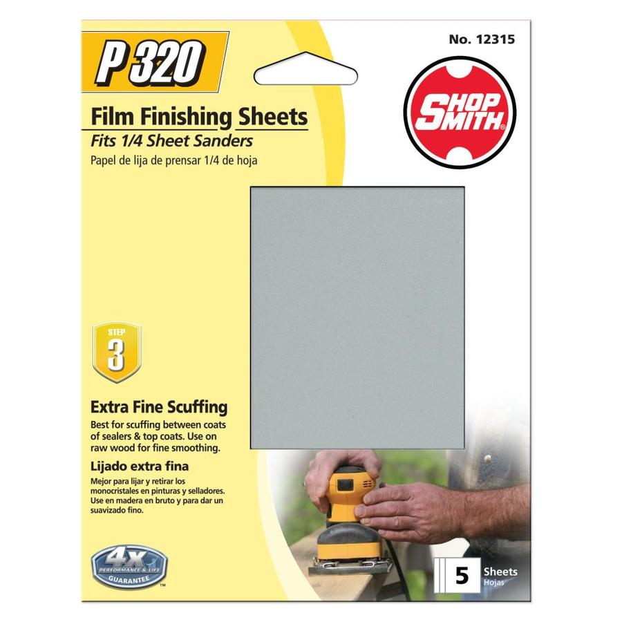 Shopsmith 5-Pack 4.5-in W x 5.5-in L 320-Grit Commercial Clamp-On Sanding Sheets