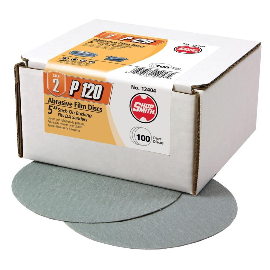 Shopsmith 100-Pack 5-in W x 5-in L 120-Grit Commercial Sanding Discs Sandpaper